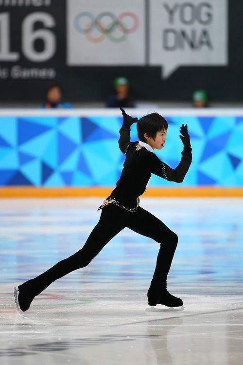 Koshiro Shimada JPN performs during the Figure Skating Men's Short Program at the Hamar Olympic Amphitheatre Storhamarhallen during Winter Youth Olympic Games, Lillehammer Norway, 13 February 2016. Photo: Al Tielemans for YIS/IOC  Handout image supplied by YIS/IOC
