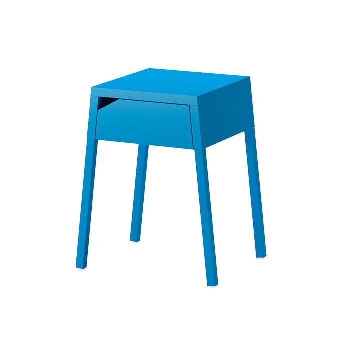 Elegant small blue nightstand