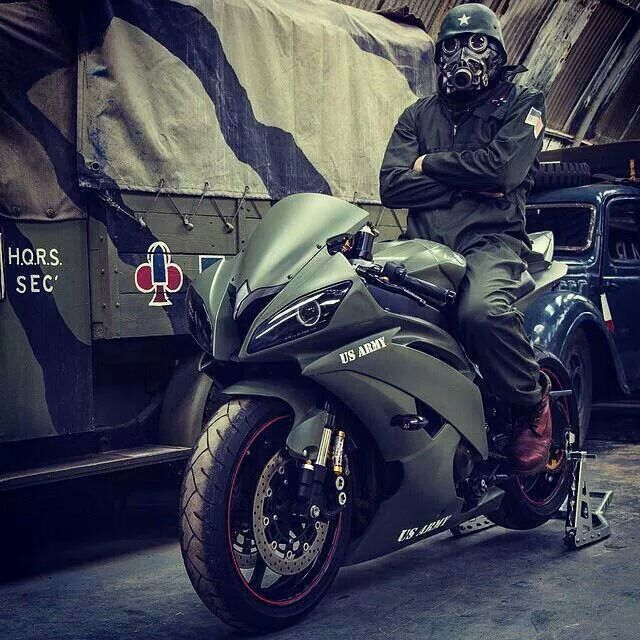 Themed Yamaha R1 | Cool Rides | Pinterest | Yamaha r1 and Army