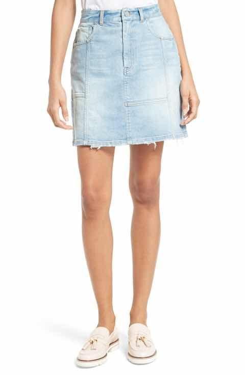 La Vie Rebecca Taylor Stretch Denim Skirt