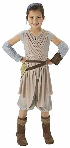 Star Wars Big Girls Classic Rey Costume Large/ 7-8 Years Multi-Colored @ niftywarehouse.com