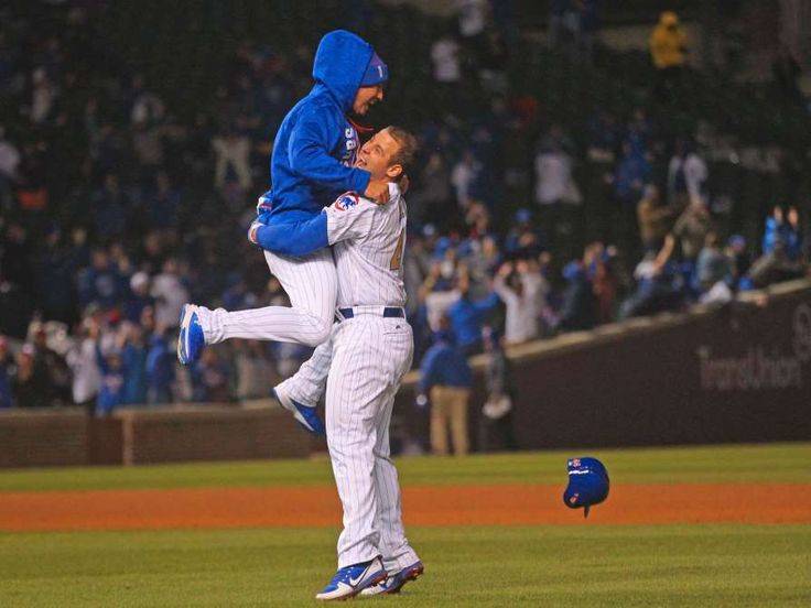 April 10: Cubs' Anthony Rizzo drives in the winning run in the bottom of the ninth inning to beat the Dodgers.