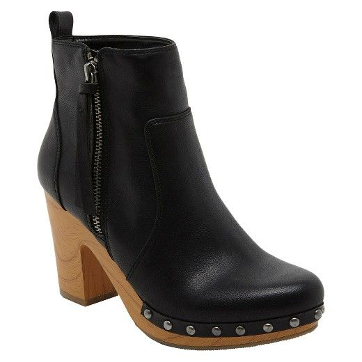 Women's Revel Kacey Faux Wood Bottom Clog Boot : Target