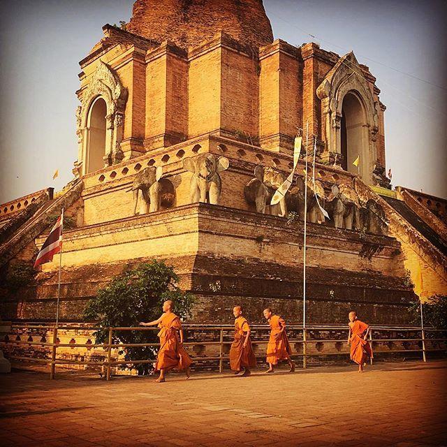 Moment de vie à #chiangmai #thailand #thailande #mathailande #bonze #temple