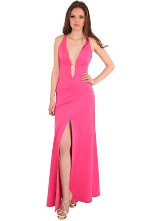 Rihanna style pink dress