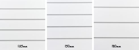 The three width options that you can choose from for your Linea Weatherboard #jameshardie #lineaweatherboard #traditionalexterior #modernliving