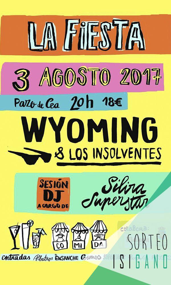 Pazo de Cea quiere premiaros con 2 entradas para su conciertazo de Wyoming & Los Insolventes que tendrá lugar el jueves 3 de agosto,  valoradas en 36€, la compañía la pones tú! #sorteo #gratis #sorteosgratis #sorteosgalicia #Galicia #suerte #luck #goodluck #premio #free #regalo #concurso #Concierto #Nigrán #Wyoming