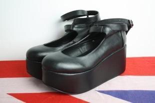 ★ Japanska Harajuku mani Lolita navel tokyo bopper plattformen skor platåskor ★ - Taobao