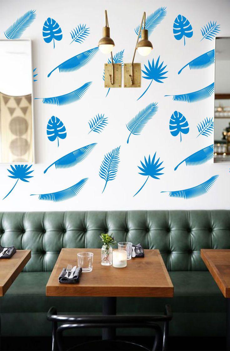 Best 25+ Tropical wall decals ideas on Pinterest   Palm wallpaper ...
