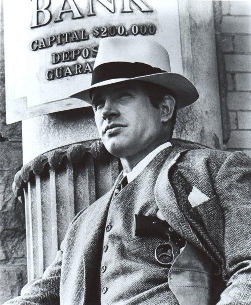 Warren Beatty in Bonnie and Clyde, 1967.