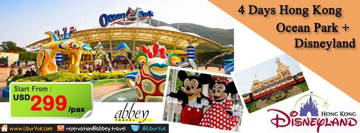 Bingung liburan mau kemana?Kini kami hadirkan paket liburan 4 Hari #Hongkong #Ocean park + #Disneyland.Anda akan diajak berpetualang di ocean park dan Disneyland,dijamin seru dan murah.Yuk booking paketnya sekarang juga dan dapatkan diskon spesialnya.  Dapatkan Special Paket tersebut dari #LiburYuk.com di http://liburyuk.com/promotional-package/book/74914336/4D-HONGKONG-OCEAN-PARK-+-DISNEYLAND  #AbbeyTravel #Jalan2 #Holiday