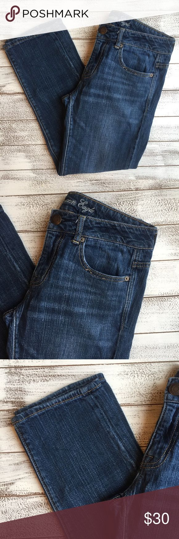"AMERICAN EAGLE BOY FIT JEANS 👖 American eagle boy fit jeans. Excellent condition. Stretch material. Size 0R.  Waist 15"" Inseam 24"" Length 33"" American Eagle Outfitters Jeans Ankle & Cropped"