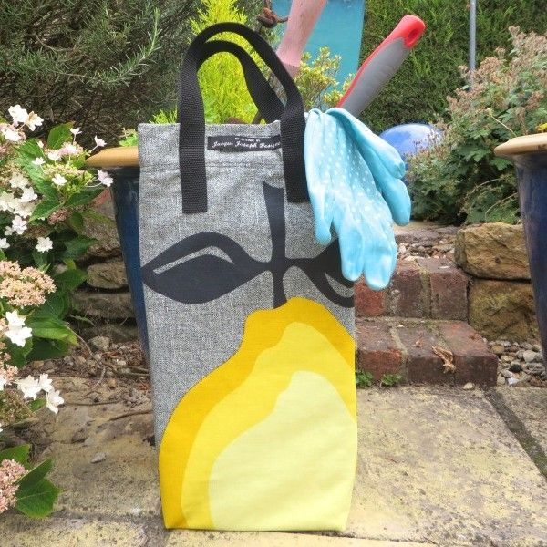 New and just in time for Spring! Our Limited Edition handmade 'Lemon Juice' Kneeler from jacquijoseph.com