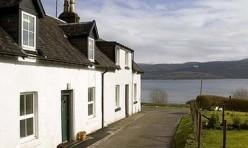 Cottage on the banks of Loch Fyne Scotland