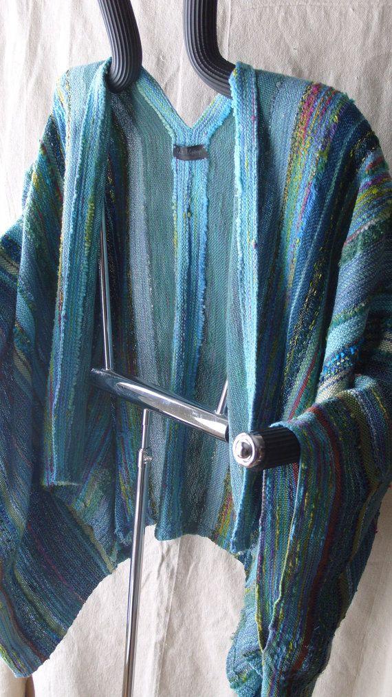 Handwoven Jacket / Shawl / Large / Plus Size / Woven