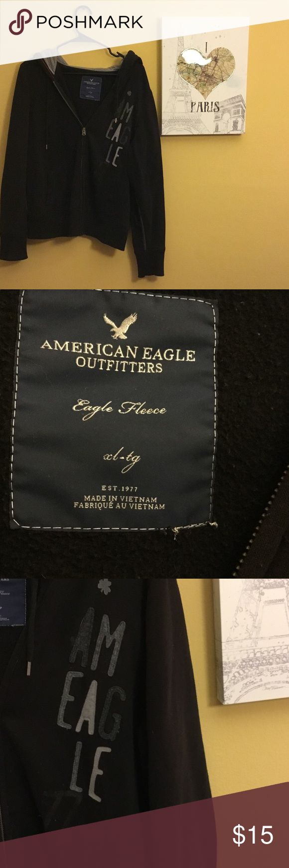 American eagle jacket Black American eagle jacket. Size XL American Eagle Outfitters Jackets & Coats