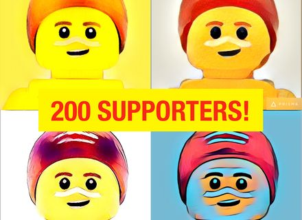 Surf Rescue pop art celebrating 200 supporters! Vote for a #SunSmart #Lego set starring heroes wearing sunscreen at http://bit/ly/legosurfrescue. #Legoideas #Melanoma #SkinCancer #Cancer #Australia #SurfLifeSaving