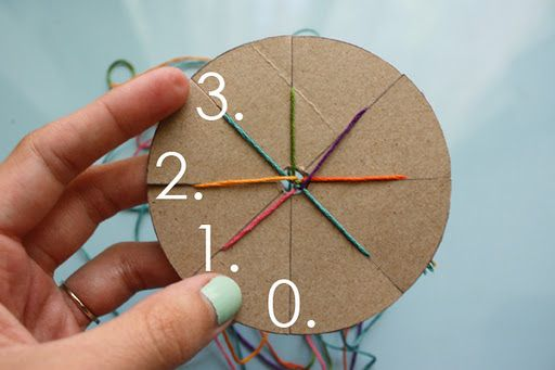 Make a woven friendship bracelet with a simple circular cardboard loom.