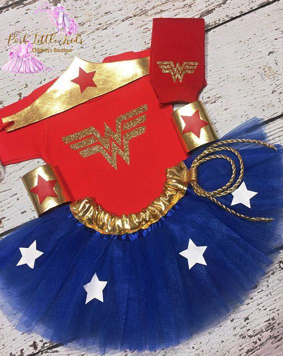 Wonder Women Girl Outfit,Wonder Women Kids Costume, Wonder -6598
