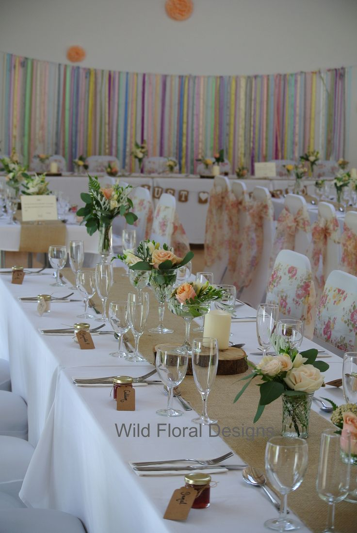 81 best our work venue dressing images on pinterest wedding stokeinteignhead village hall wedding devon chair covers sashes hessian table runners and floral junglespirit Image collections