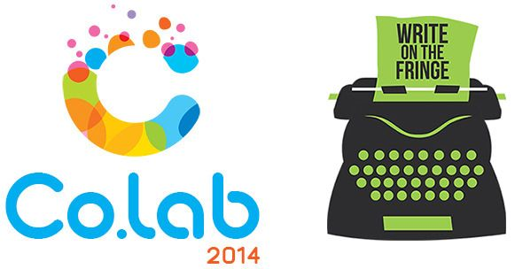 2014 logos for Co.lab and Write on the Fringe via BendArts