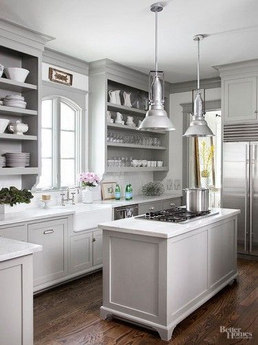 12 gorgeous and bright light gray kitchens a roundup of beautiful light gray kitchen cabinets on kitchen decor grey cabinets id=85021