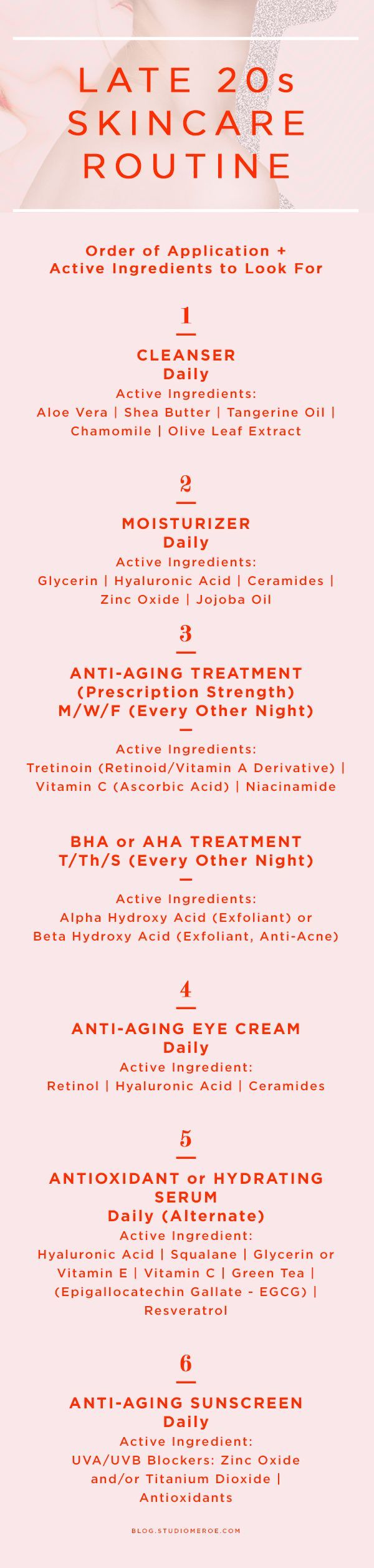 Late 20s skin care routine | Order of application + active ingredients to look for | skin care tips | anti-aging |