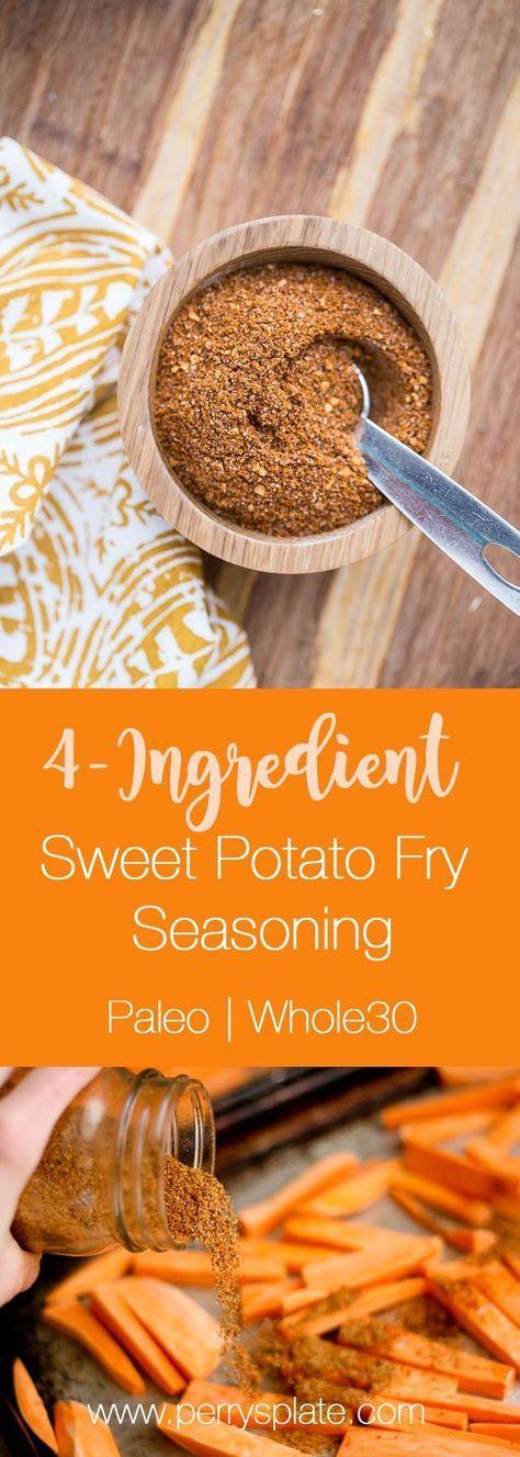 Easy Sweet Potato Fry Seasoning   sweet potato recipes   paleo recipes   Whole30 recipes   perrysplate.com