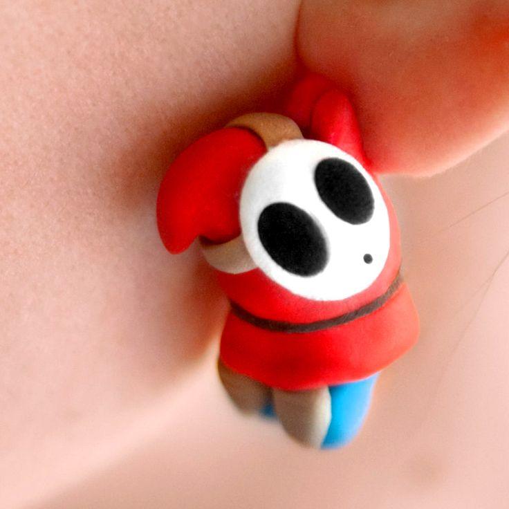 Super Mario Shy Guy Earrings #supermario #nintendo #mario #supermariobros #kawaii #earrings #supermariomerchandise #merchandise #shyguy