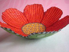 Paper Mache bowl -- love this bowl!
