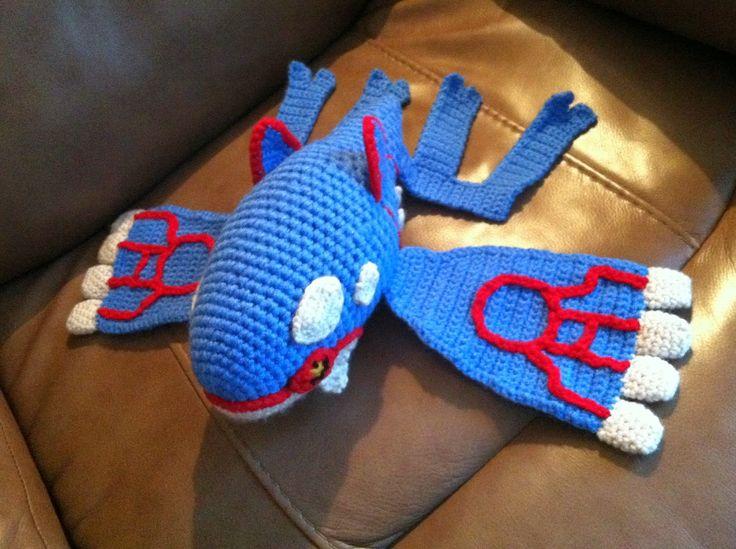 Heart in Flight Crochet: Kyogre Crochet Plush Pattern