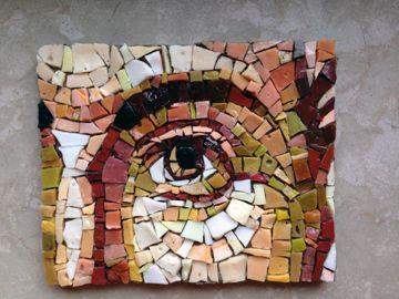 Jesus Eye // Smalti - Byzantine technique - Mosaic by Ilaria Del Signore