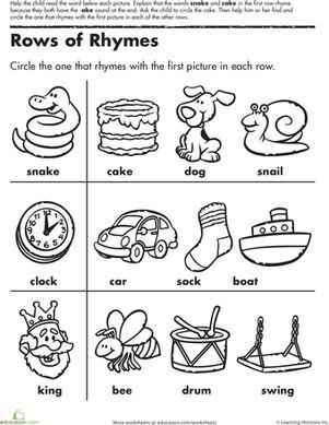 Best 25+ Rhyming worksheet ideas on Pinterest | Rhyming ...