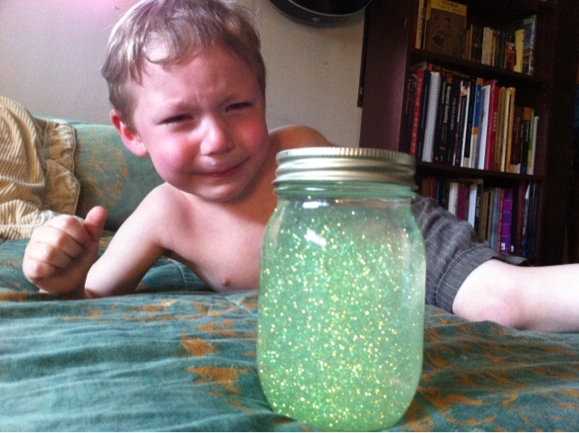 Time out glitter timer.......... Must make this!!!