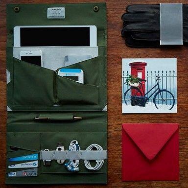 Mężczyźni uwielbiają prezenty, któych rezczywiście będą używać - funkjonalne i piękne - etui na iPada Knomad - mobilny organizer z www.bag-a-porter.pl #christmas #gift