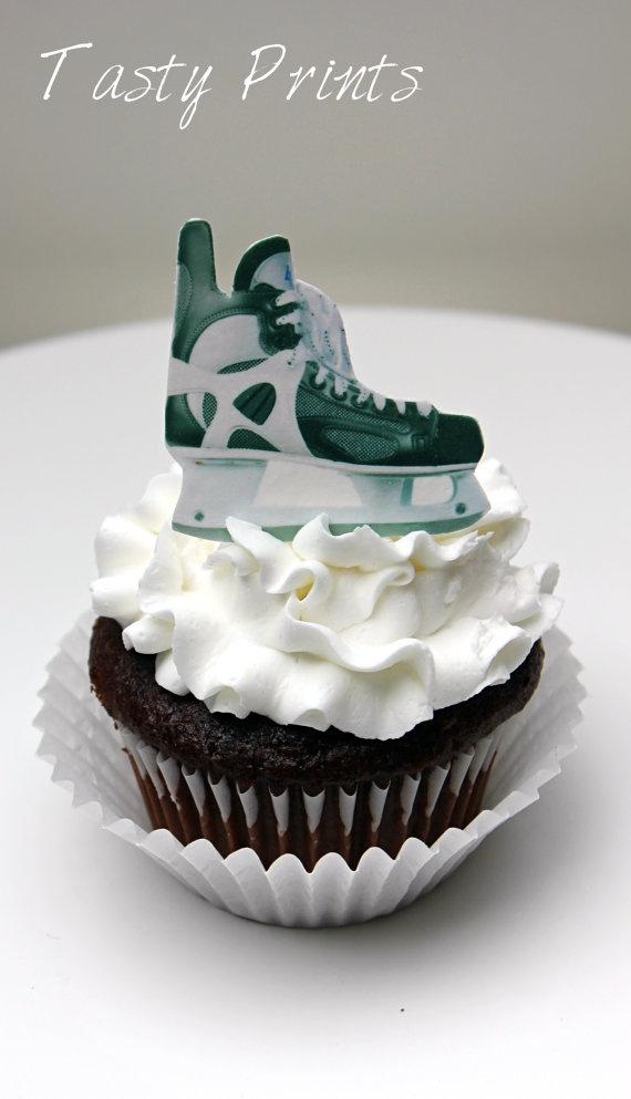 Hockey Skate Cupcakes