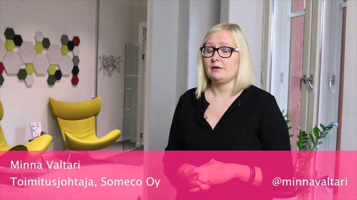 Minna Valtari, Someco Oy: Miksi johtajan kannattaa lähteä mukaan yhteisö...