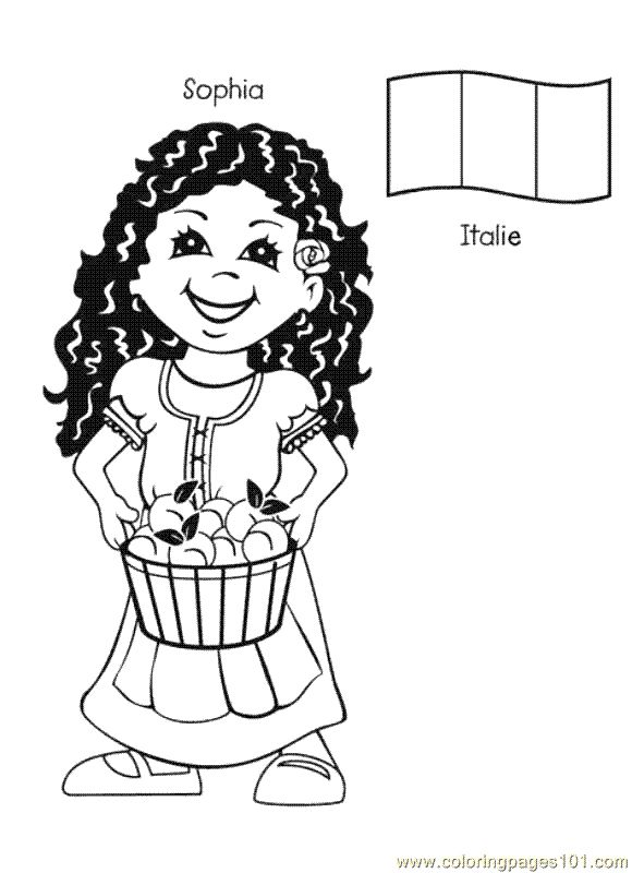 free printable coloring page Kids From Around The World 012 (Cartoons ... free printable colorin .