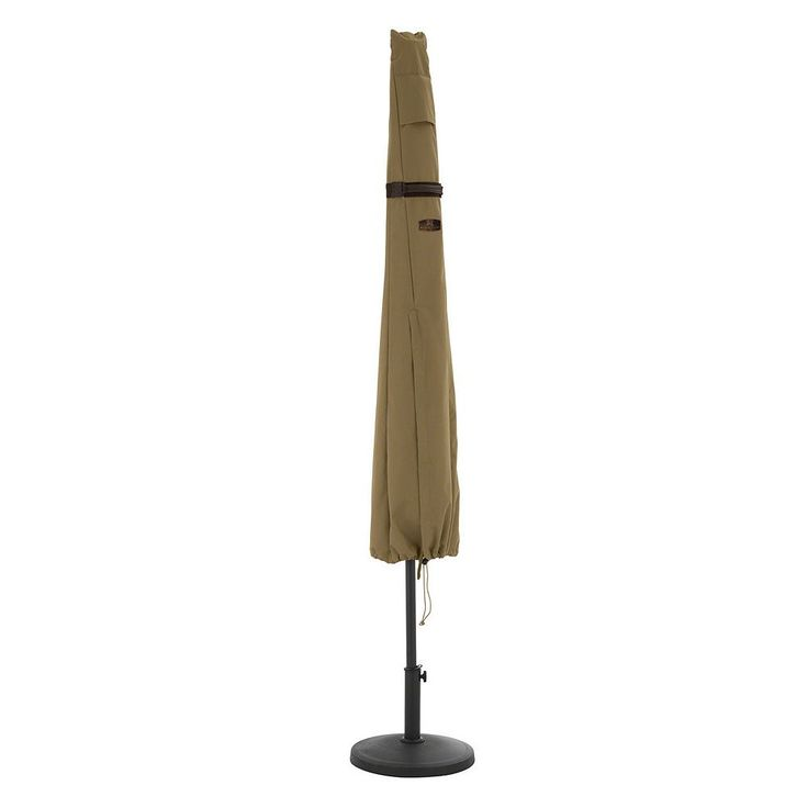 Hickory Round Patio Umbrella Cover, Brown