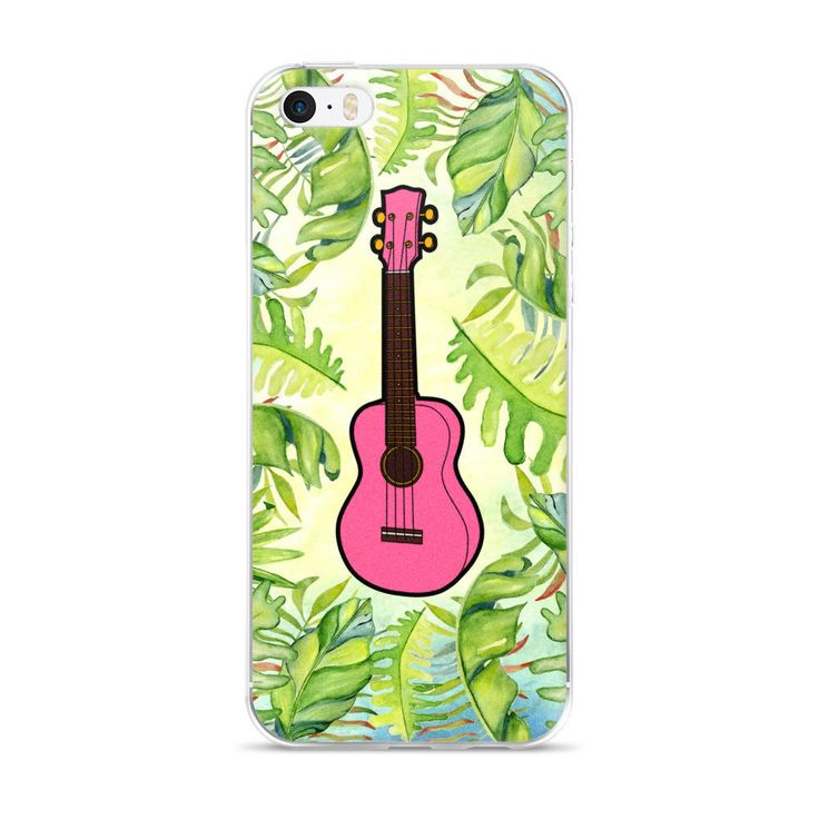 Order by Dec. 6th if You Want this before Christmas! Pink Ukulele iPhone 5/5s/Se, 6/6s, 6/6s Plus Case by DigitalJamsStudio on Etsy