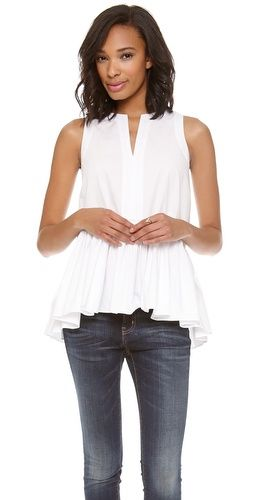 The perfect white top for spring.