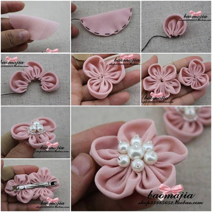 DIY Pretty Fabric Flower Hair Clip | iCreativeIdeas.com Follow Us on Facebook --> https://www.facebook.com/iCreativeIdeas