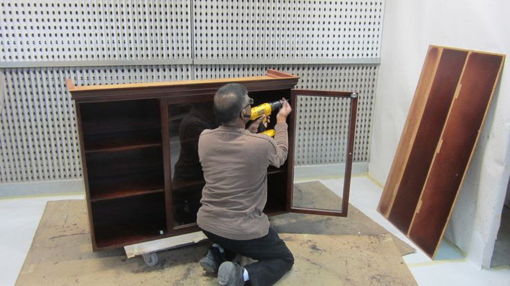 The Fruno's project: taking apart the #hutch & #buffet by AM Furniture Finishing