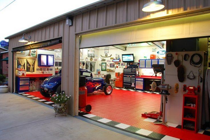 43 best images about cool garages on pinterest gladiator for Custom garage workshop