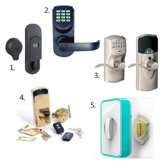 Keyless door locks - as someone who's always fearful of locking herself out of the house, this would be perfect.