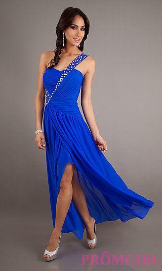 Elegant One Shoulder Gown for Prom at PromGirl.com