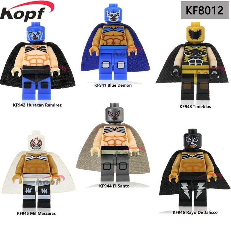 Super Heroes Mexiko Kämpfer Blau Dämon Huracan Ramirez Tinieblas Mil Mascaras Bausteine Beste Kinder Geschenk Spielzeug KF8012