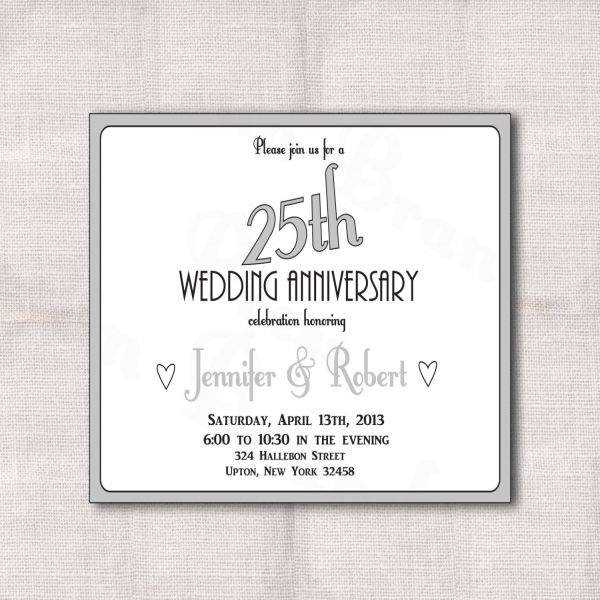 22 best 25th Silver Wedding Anniversary Invitation Wordings images - anniversary invitation template