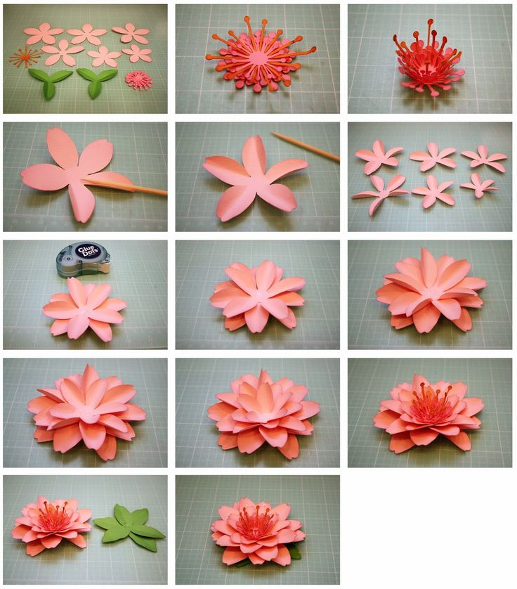 Как сделать цветы из бумаги для открыток своими руками