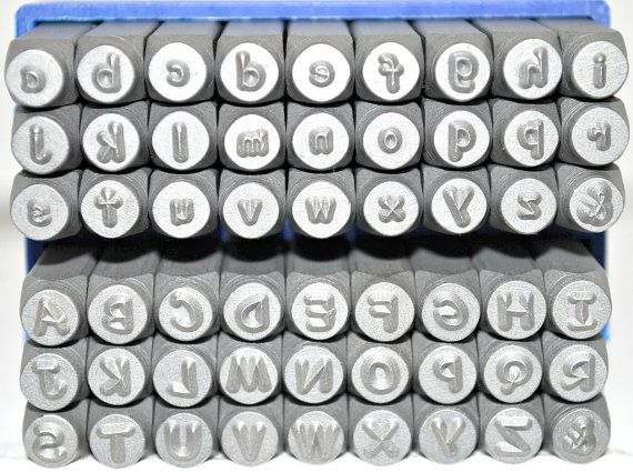 3mm comic sans font metal stamp combination letter by thesupplyguy 6600